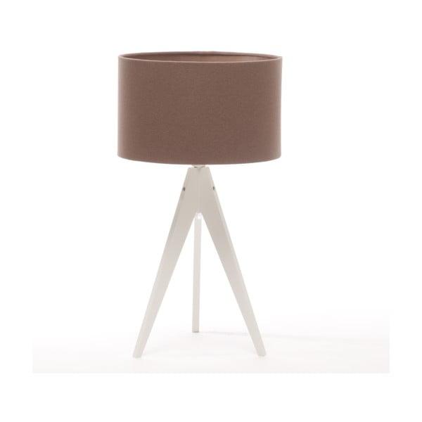 Stolní lampa Arist Dark Taupe/White