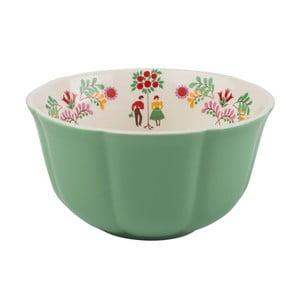 Zelená keramická miska na cereálie Creative Tops, Ø14 cm