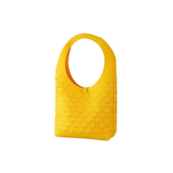 Plstěná kabelka, žlutá