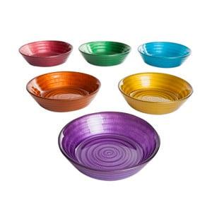 Sada 6 barevných skleněných misek Mezzo, ⌀ 12 cm