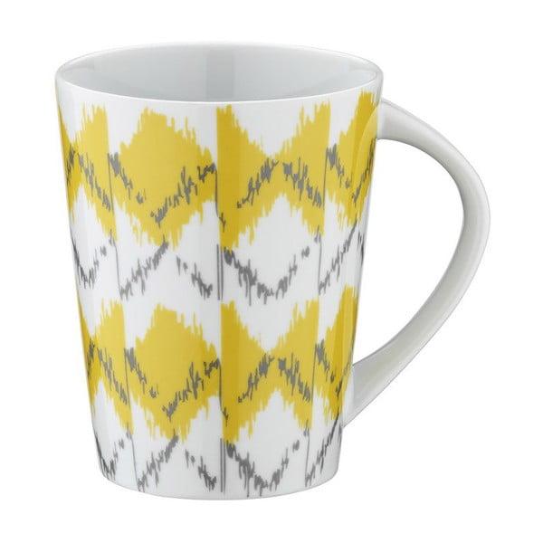 Porcelánový hrnek Yellow Stripes, 400ml
