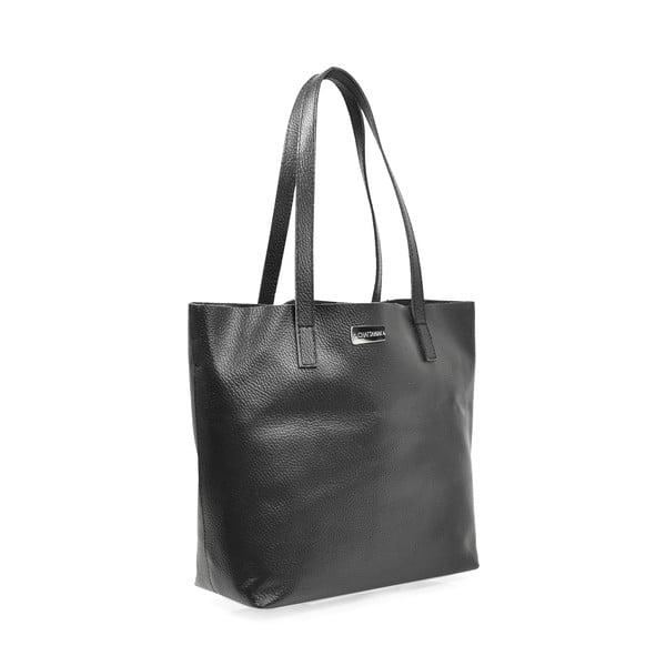 Kožená kabelka Amande, černá
