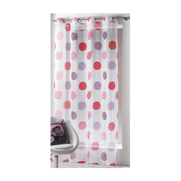 Závěs Lulu Print Pink, 140x240 cm