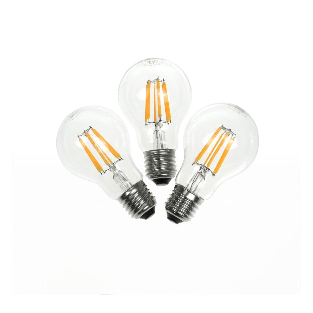 Fotografie Sada 3 LED žárovek Bulb Attack PIONEER Linear, E27 5,5 W