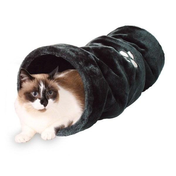 Plyšový tunel pro kočky, antracit