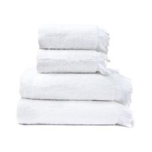 Set 2 prosoape și 2 prosoape de baie din 100% bumbac Bonami, 50 x 90 + 70 x 140 cm, alb