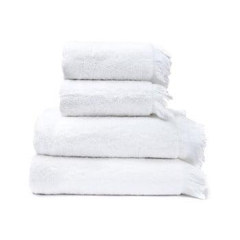 Set 4 prosoape din 100% bumbac Bonami, 50 x 90 + 70 x 140 cm, alb imagine