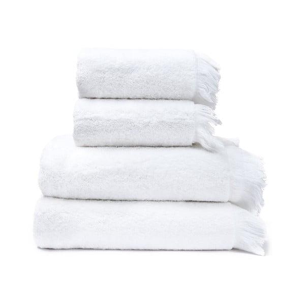 2-2 db fehér 100% pamut törölköző és fürdőlepedő, 50 x 90 + 70 x 140 cm - Bonami