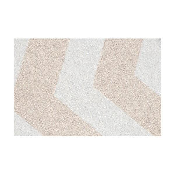 Vysoce odolný kuchyňský koberec Webtappeti Optical Beige,80x130cm