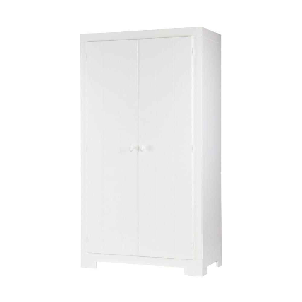 Bílá šatní skříň z borovicového dřeva Nikki De Eekhoorn