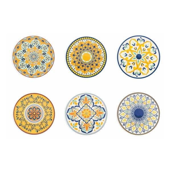 Sicilia 6 db dekoratív tányér készlet - Villa d'Este