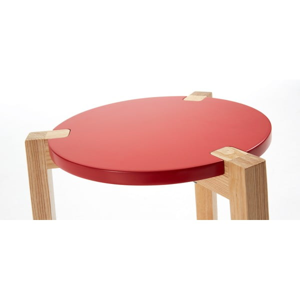 Červený odkládací stolek La Forma Elroy