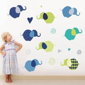 Samolepka na stěnu Sloníci, 50x70 cm