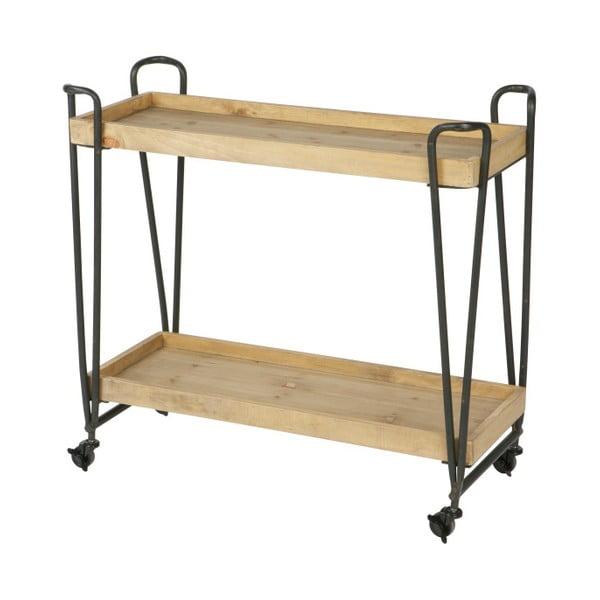 Pojízdný servírovací stolek s policemi z mangového dřeva De Eekhoorn Zoe