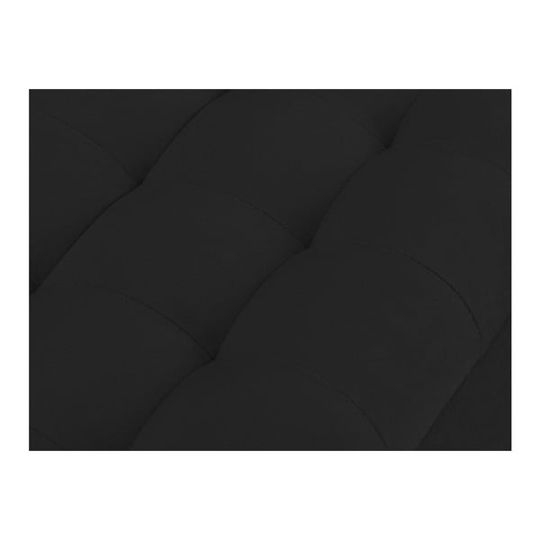 Černý otoman s úložným prostorem Windsor & Co Sofas Nova, 180 x 47 cm