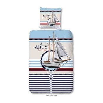 Lenjerie de pat din bumbac pentru copii Muller Textiels Premento Ahoy 140 x 200 cm