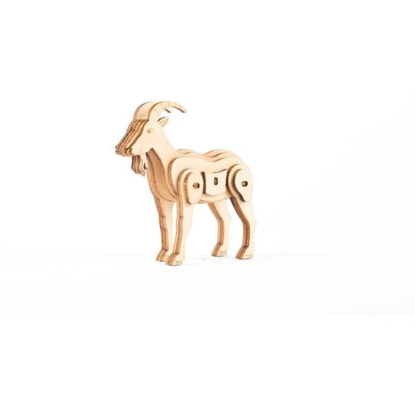 3D drevené puzzle s motívom kozy Kikkerland Goat