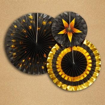 Set 3 ornamente din hârtie Neviti Glitz & Glamour Goldie imagine