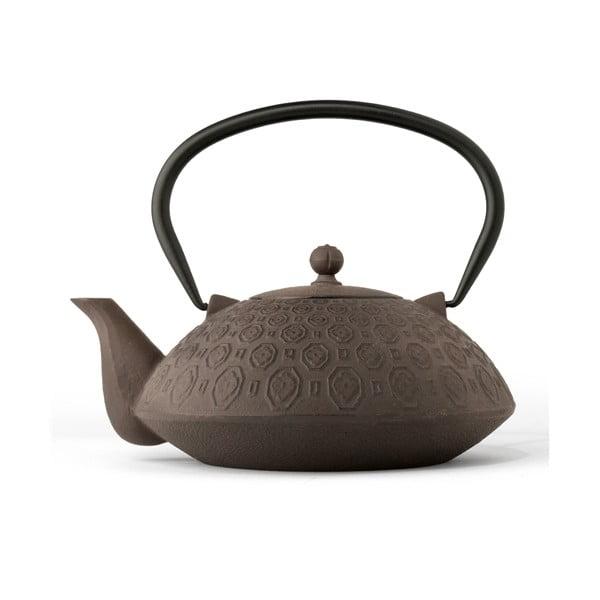 Hnědálitinová konvice se sítkem na sypaný čaj Bredemeijer Yinan, 1,2 l
