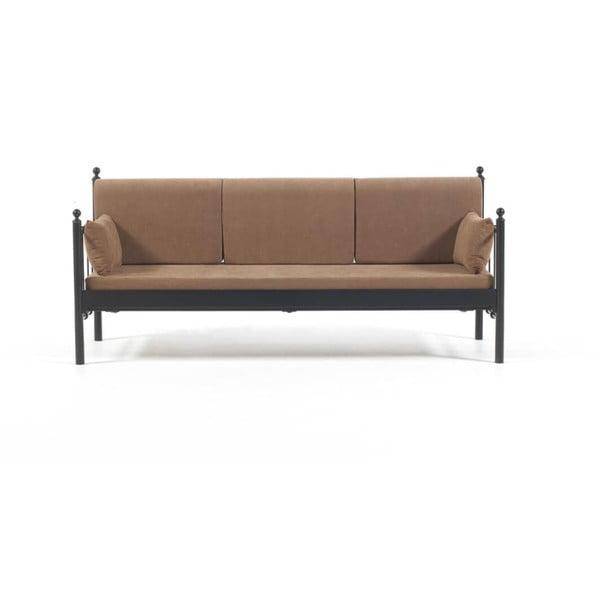 Canapea cu 3 locuri de grădină Lalas DK, 76 x 209 cm, maro