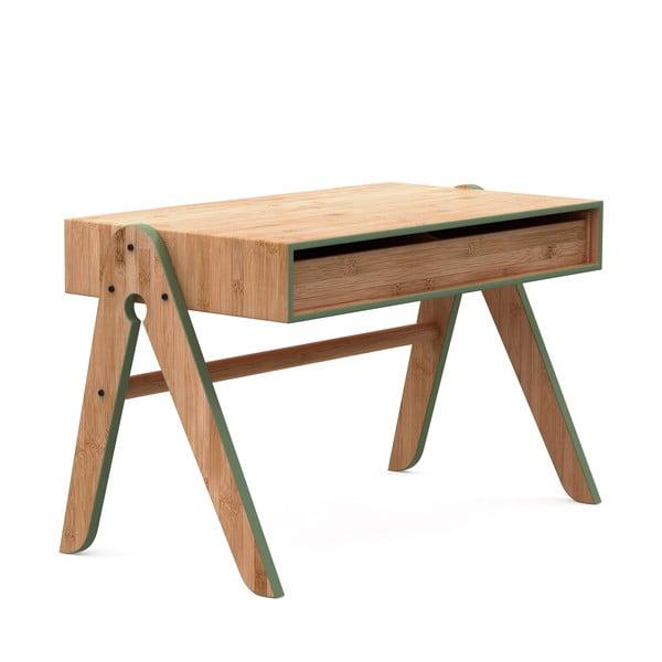Birou din bambus pentru copii We Do Wood Geo's, maro-verde