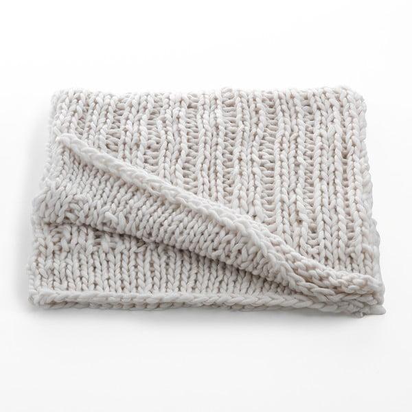 Bílá pletená deka Tomasucci Tender, 150x150cm