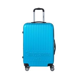 Tyrkysově modrý cestovní kufr na kolečkách s kódovým zámkem SINEQUANONE Chandler, 71 l