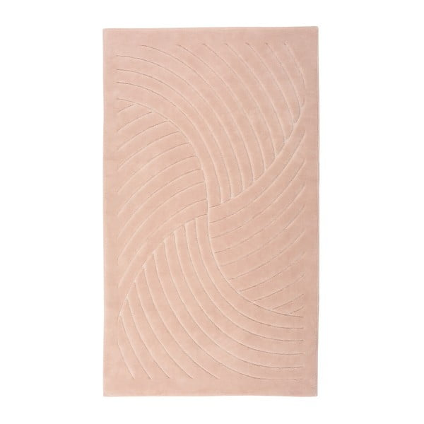 Růžový koberec Floorist Waves, 80x300cm