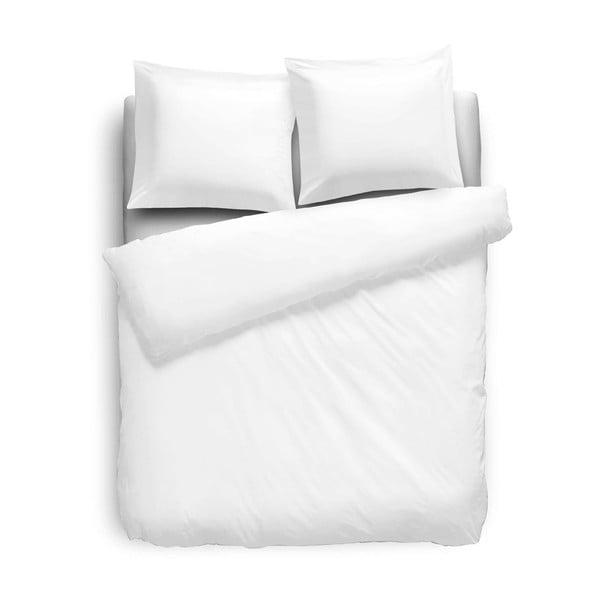 Bavlněné povlečení 155x200 cm, čistě bílé