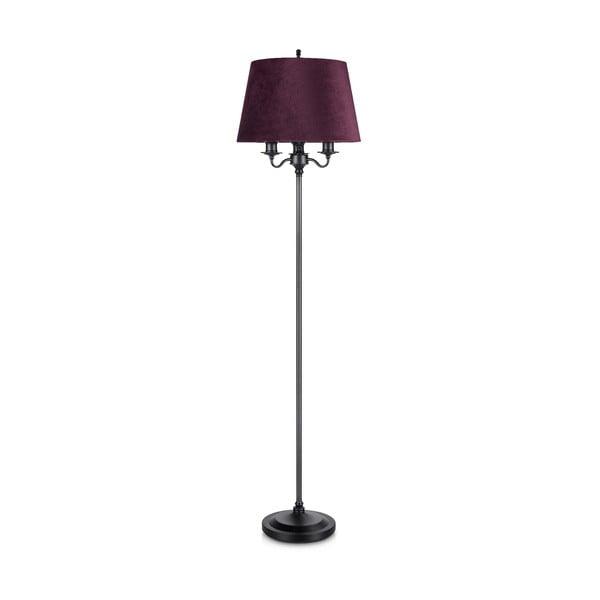 Jamie fekete-lila állólámpa, ø40 cm - Markslöjd