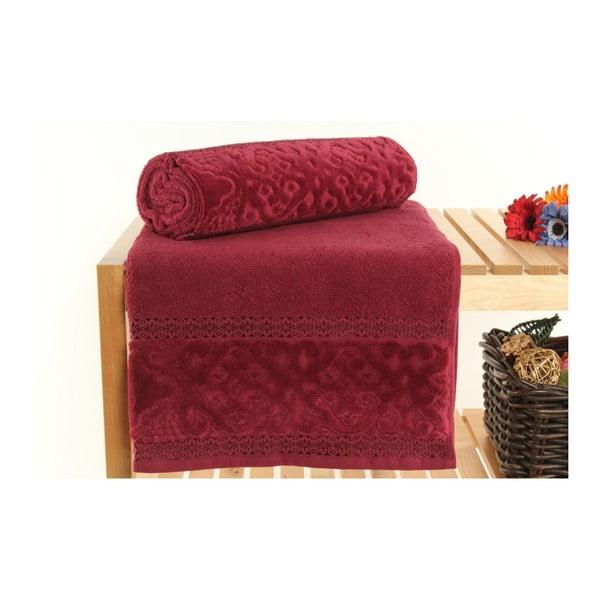 Sada 2 červených ručníků Meltem, 70x140cm