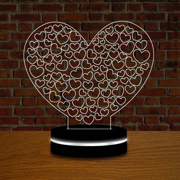 Světlo s 3D efektem Love