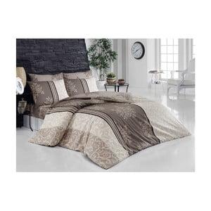 Lenjerie de pat cu cearșaf din bumbac  Natura, 200 x 220 cm