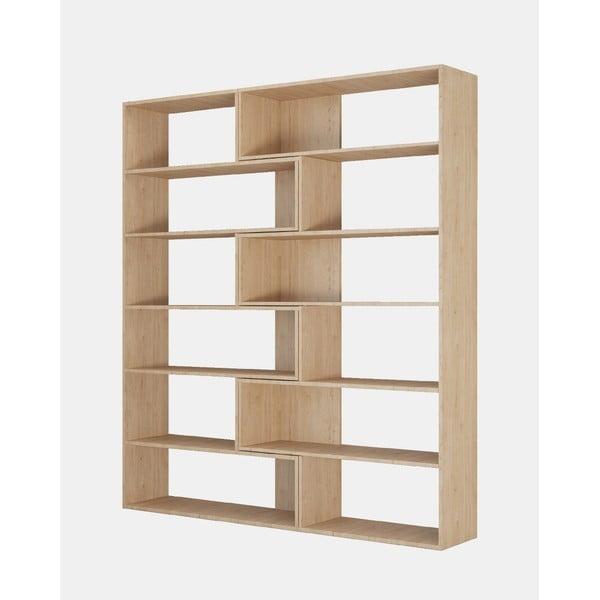 Brązowa narożna biblioteczka Twin, wys. 179 cm