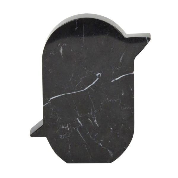 Mramorová dekorace Birdy 12x15 cm, černá