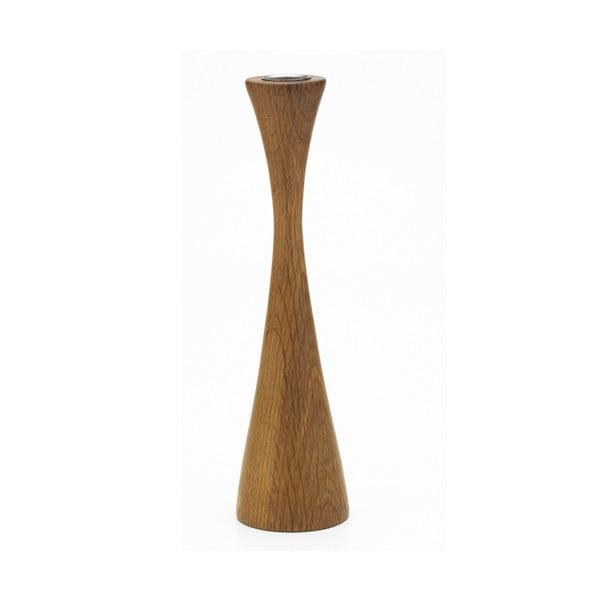Svícen Asta z kolekce Oak sisters, tmavé dřevo