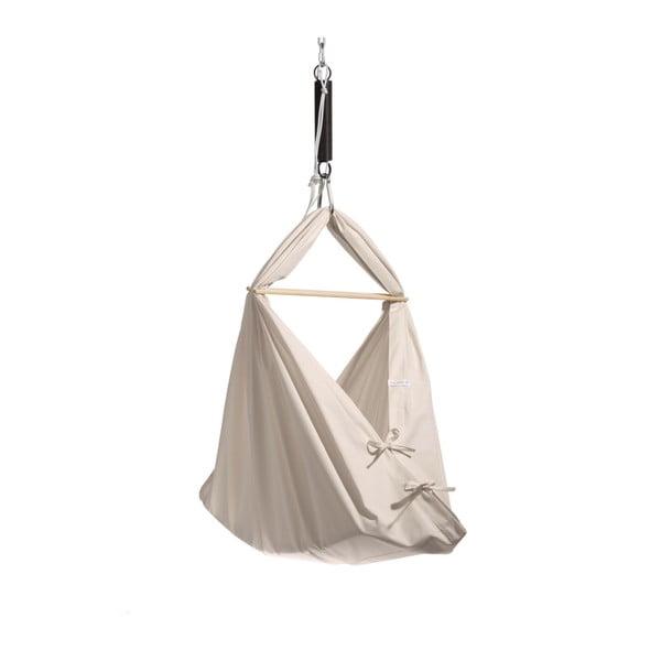 Malá krémová kolíska z bio bavlny so zavesením do stropu Hojdavak Baby (0až9mesiacov)