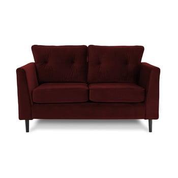 Canapea cu două locuri VIVONITA Portobello, roșu închis de la Vivonita