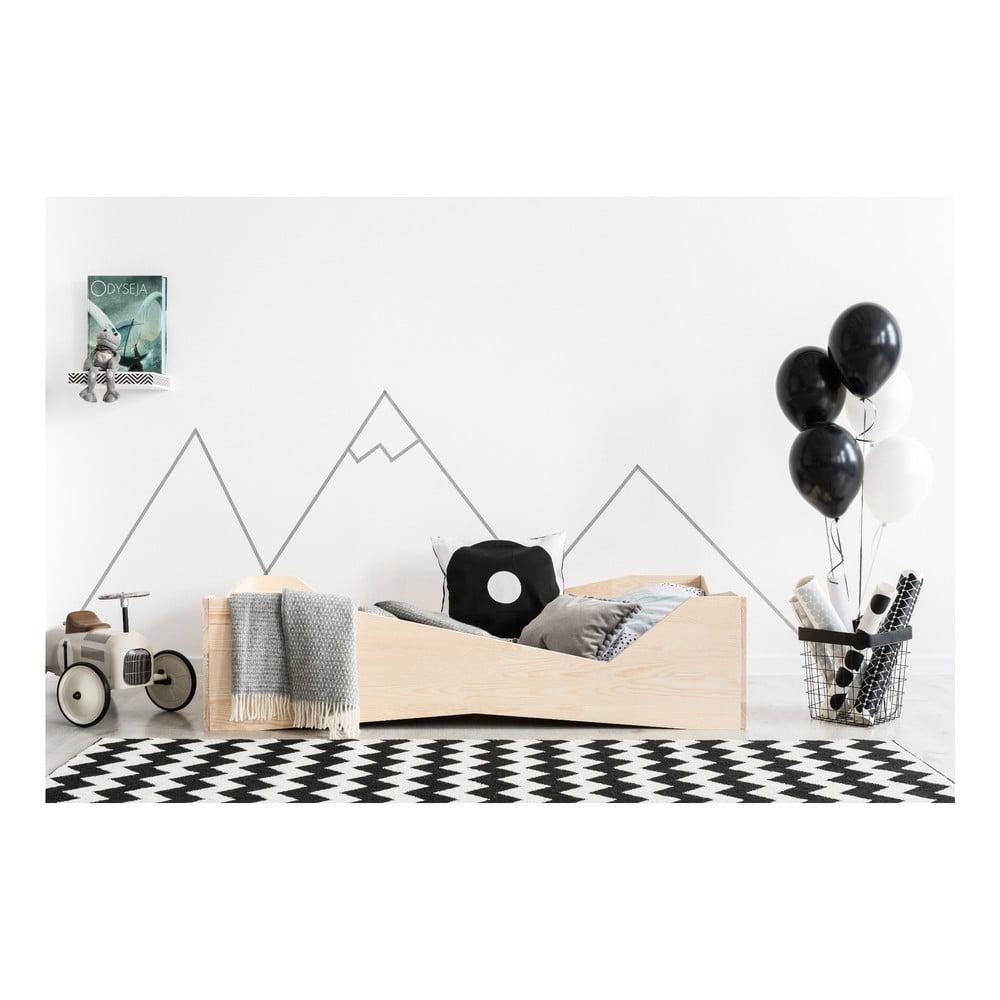 Dětská postel z borovicového dřeva Adeko BOX 5, 70 x 140 cm