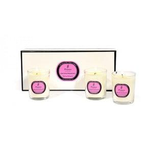 Sada 3 svíček s vůní rozmarýnu a bergamotu Parks Candles London  Rosemary, Bergamot, 20 hodin hoření