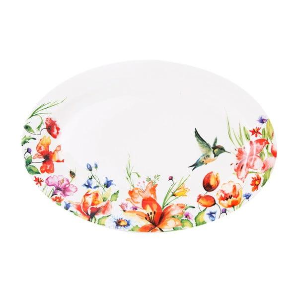 Barevný talíř Krauff Colibri Oval, 30,6 cm