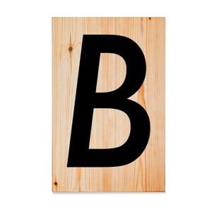 Dřevěná cedule Letters B