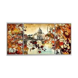 3dílný obraz Asymetric Autumn, 80x40 cm