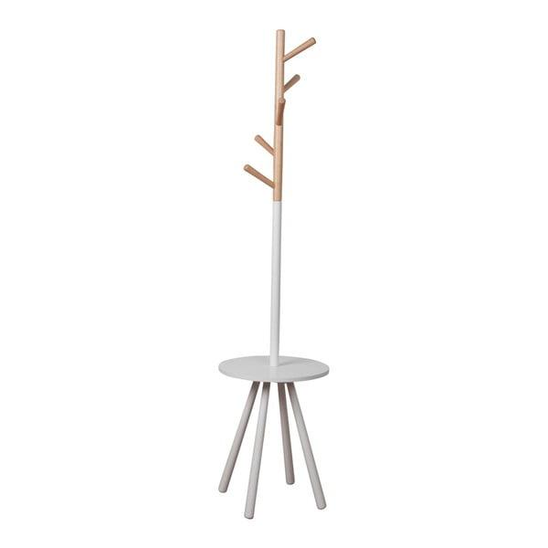 Cuier cu spațiu depozitare Zuiver Table Tree, alb