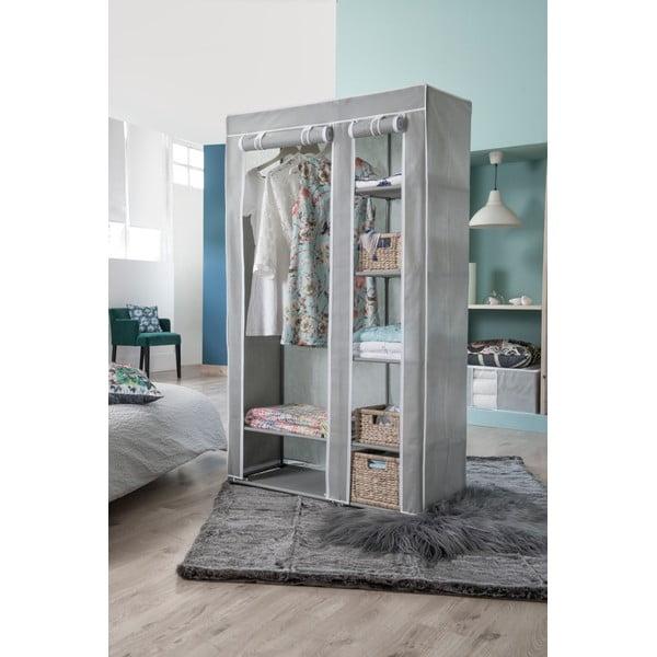 Šatní textilní skříň Compactor Amy Grey
