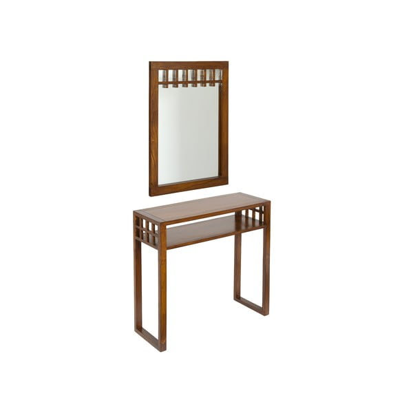 Zrcadlo s konzolovým stolkem ze dřeva mindi Santiago Pons Colonial