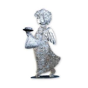 Dekorativní anděl se svícnem