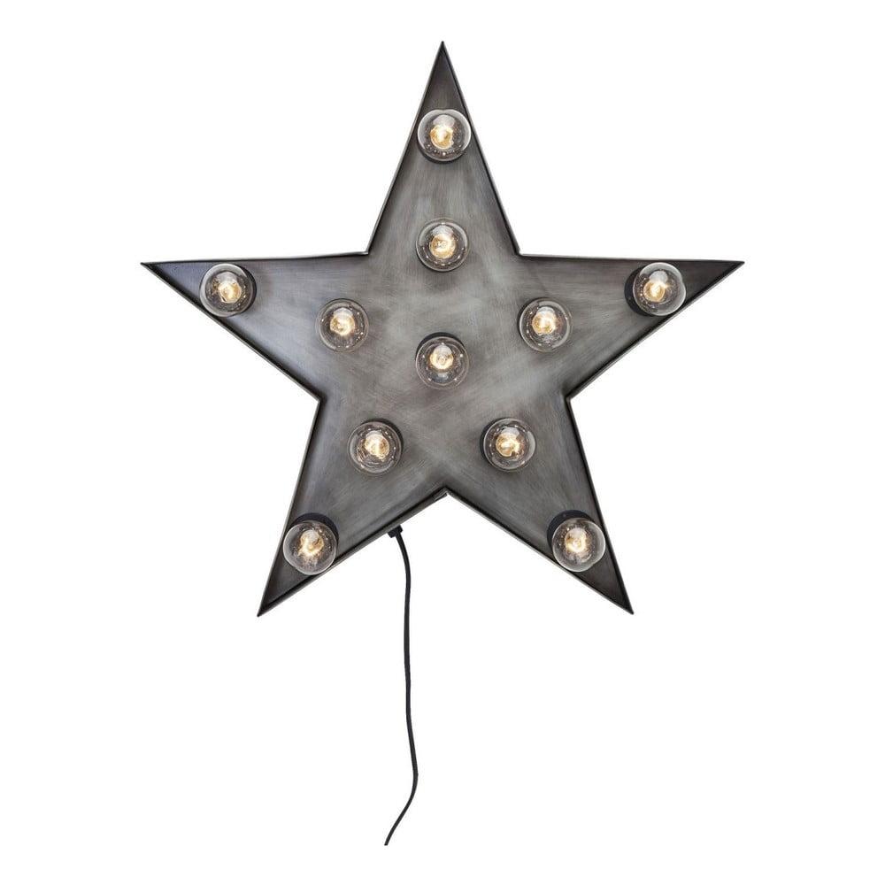 Šedá nástěnná světelná dekorace Kare Design Star