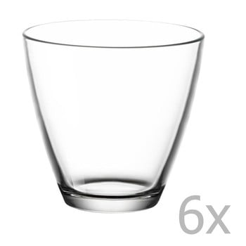 Set 6 pahare de apă Bitz Fluidum, 260 ml