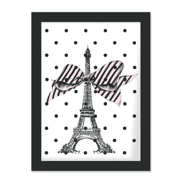 Plakát v rámu Eiffel and Dots, 30x40 cm